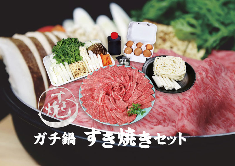 ガチ鍋!すき焼きセット(2〜3人前)